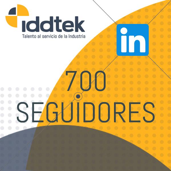 Iddtek tiene 700 seguidores en LinkedIn